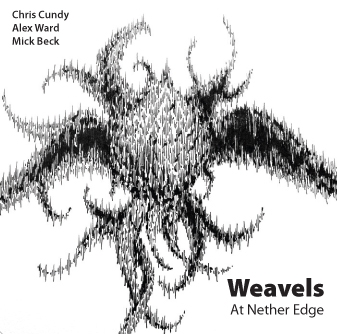Line drawing for Weavels by Chris Cundy