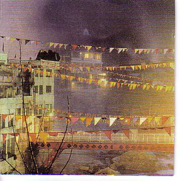Prayer flags in a Nepalese village
